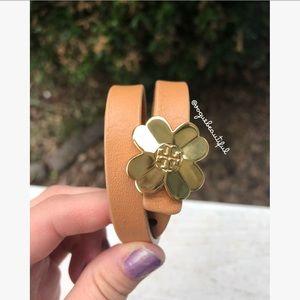Tory Burch 'Shawn' Double Wrap Shamrock Bracelet